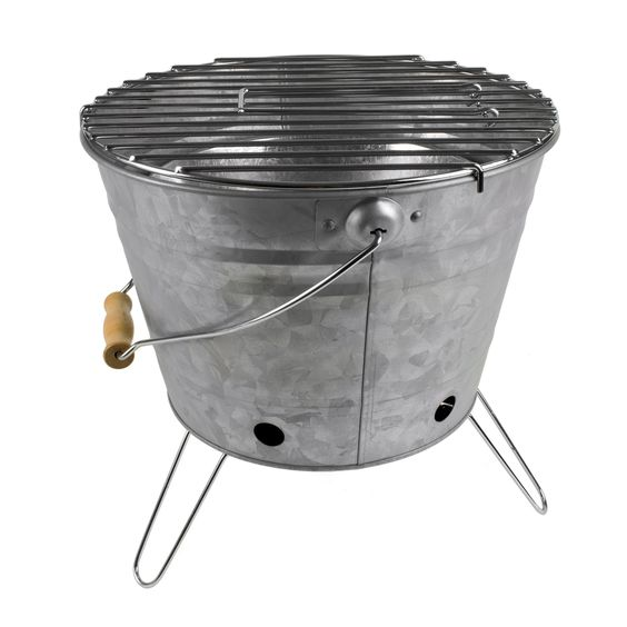 Galvanized portable BBQ grill