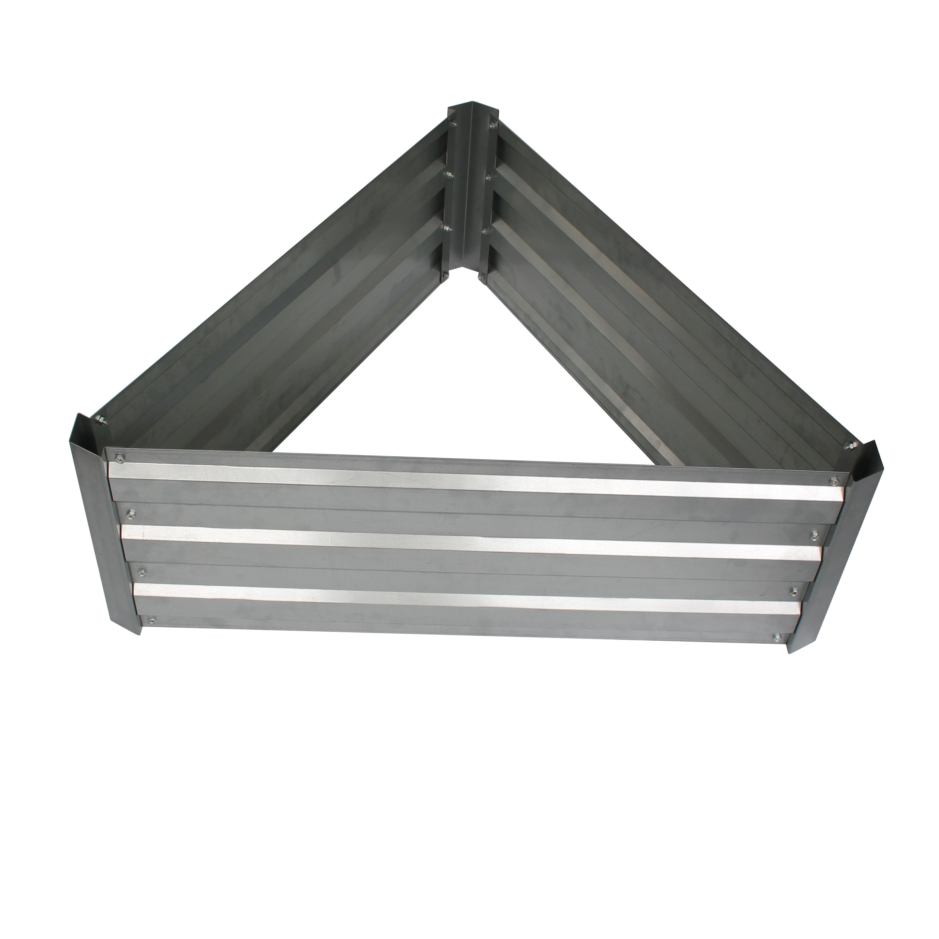 Galvanized steel earthmark raised garden beds