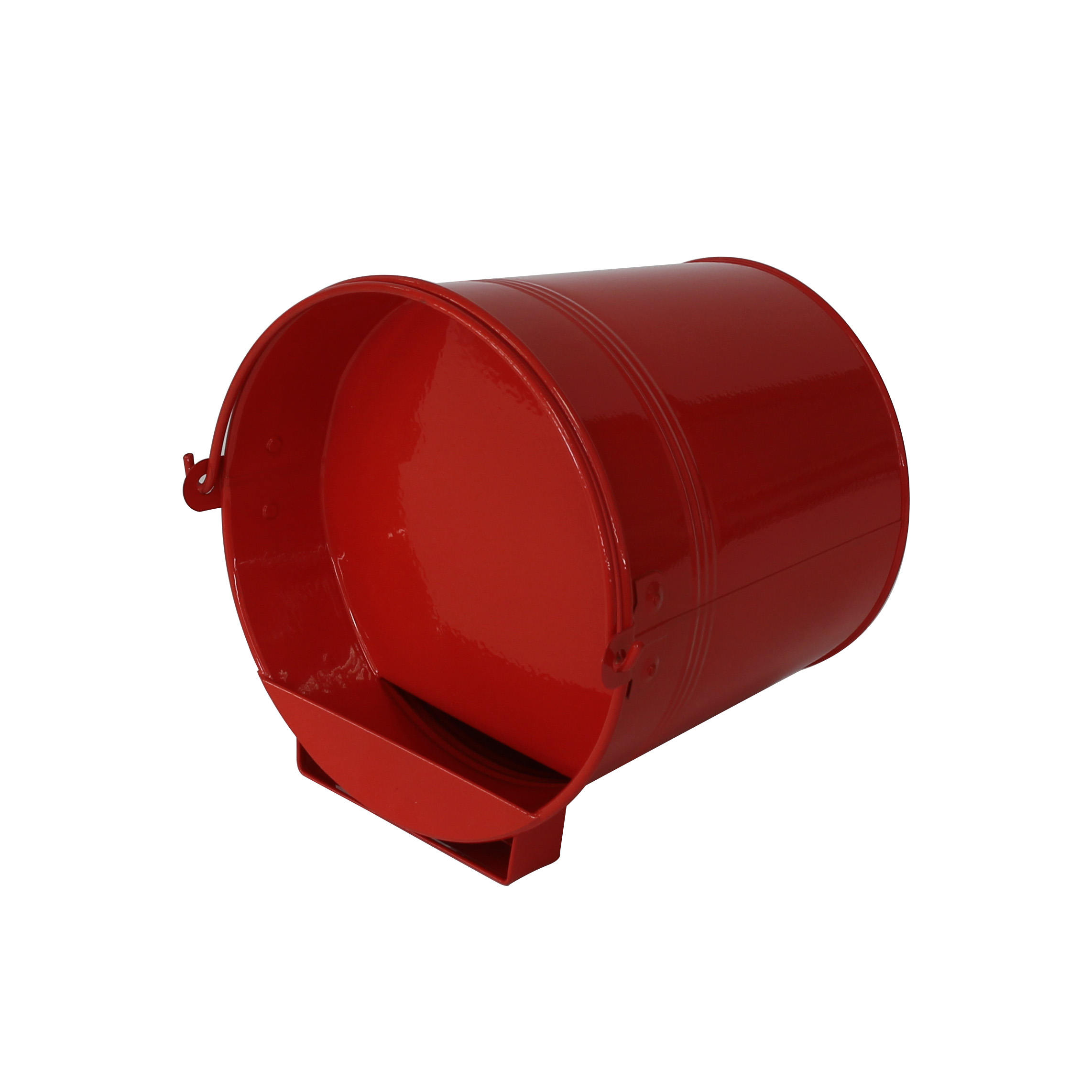 Red 4L metal poultry drinker