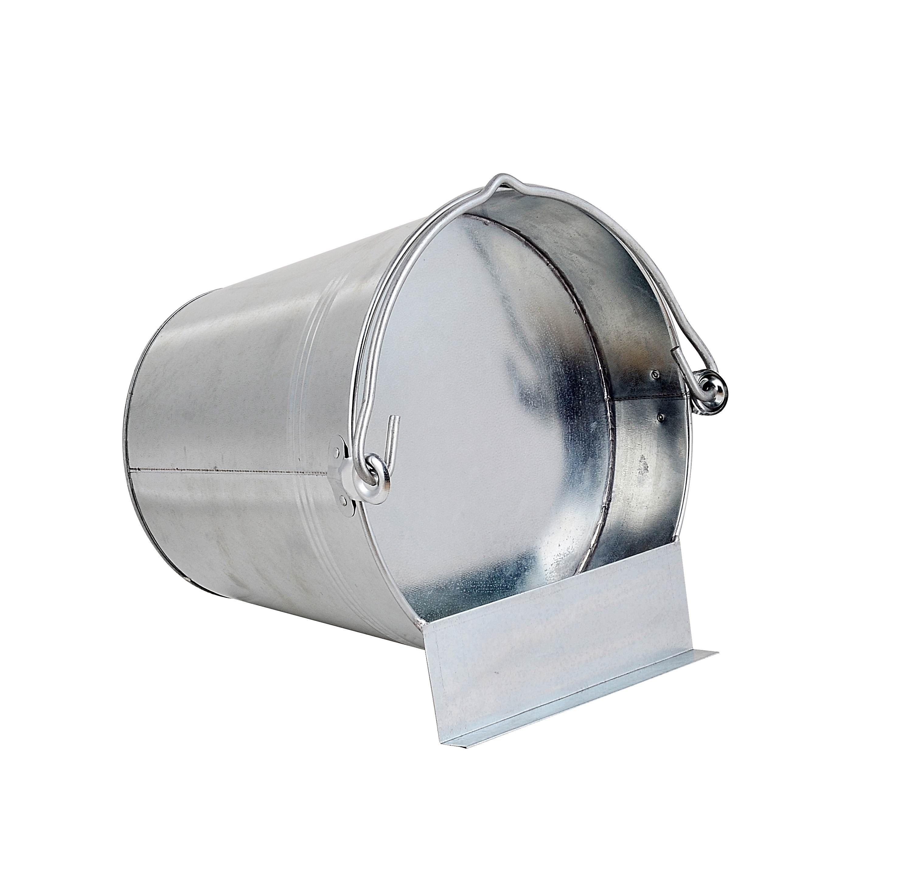 7L Galvanized Metal Chicken Bucket/poultry Drinker