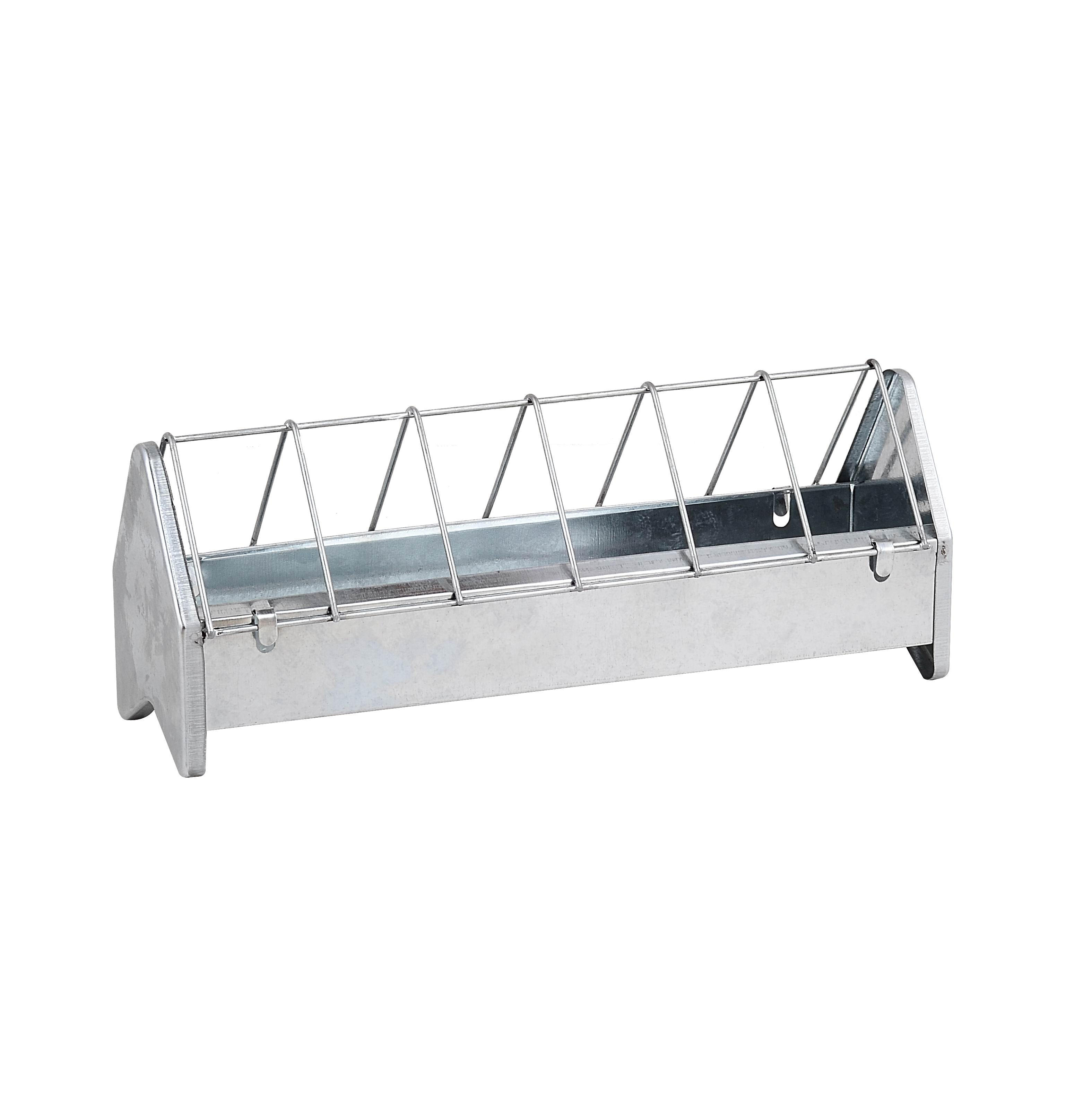 Galvanised Chicken Trough with anti scratch bars (35cm)