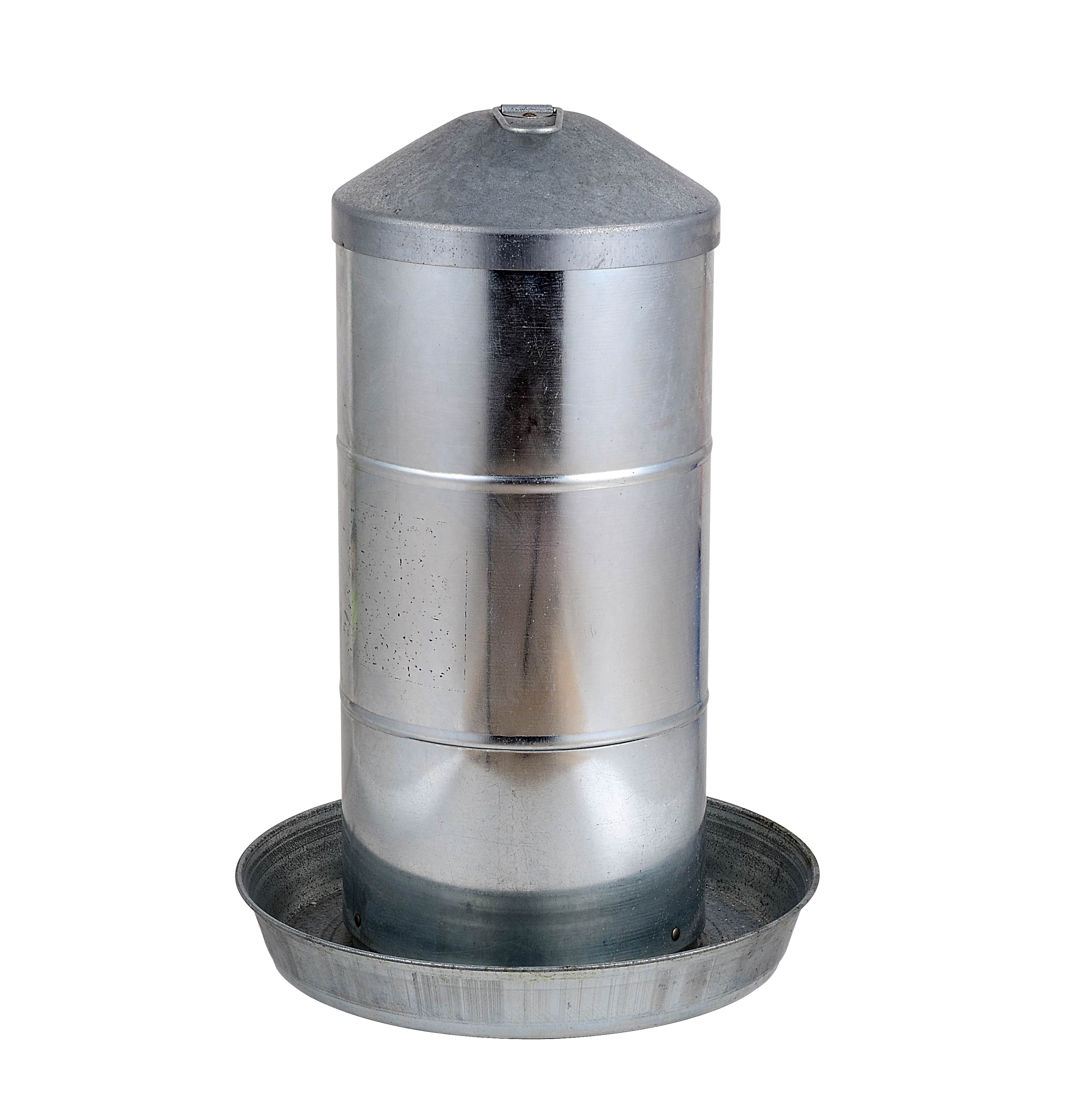 Chicken Feeder made of galvanized steel with a capacity of 24 KGS