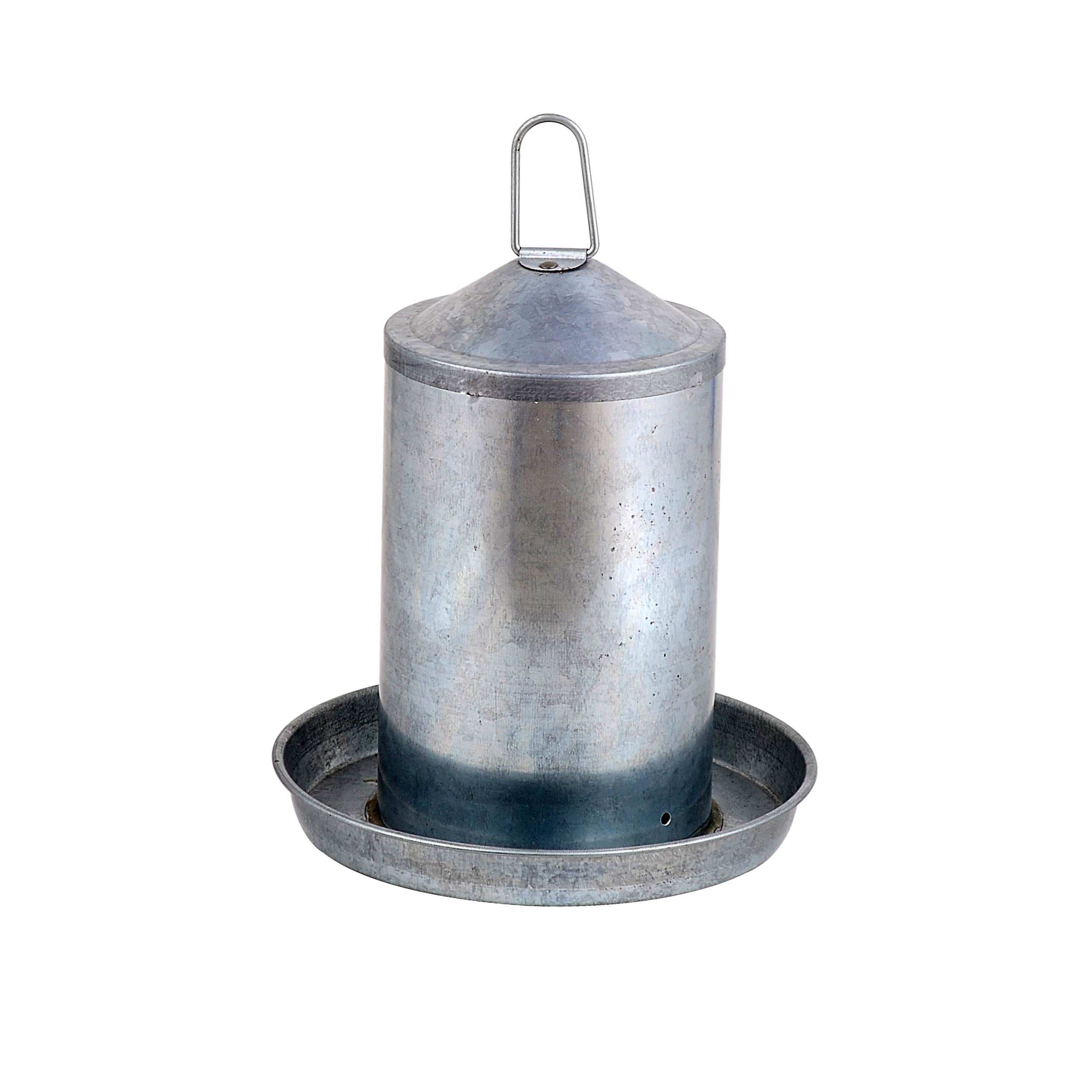 5L outdoor Galvanized chicken drinker