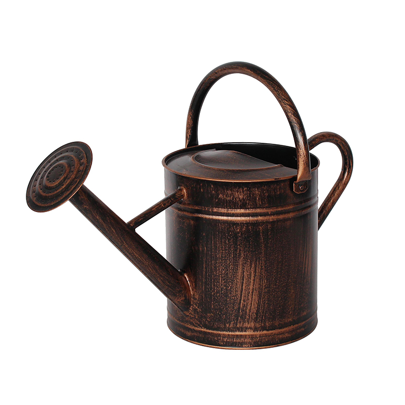 Antique Copper Finish Galvanized Metal Watering Can