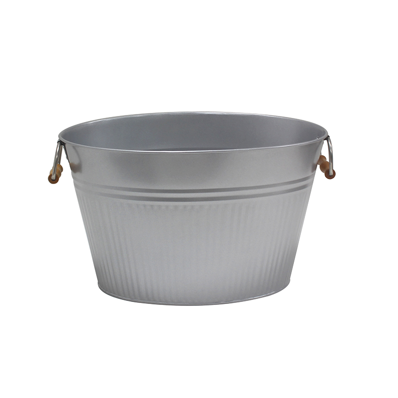 Silver Color Home Party Galvanized metal drink tub