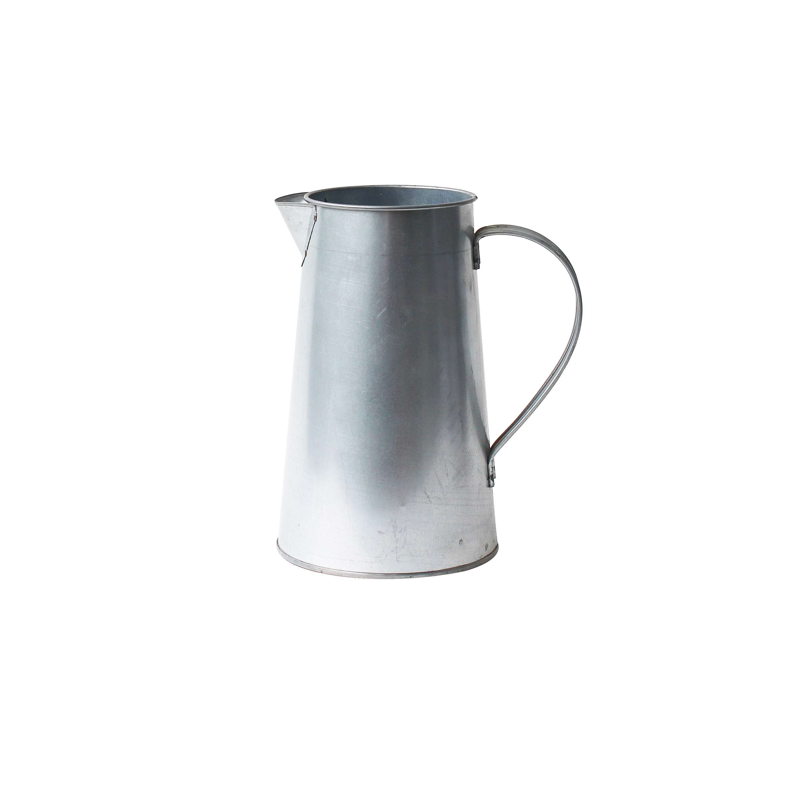 Galvanized water Jug Vase Milk Can metal Jug