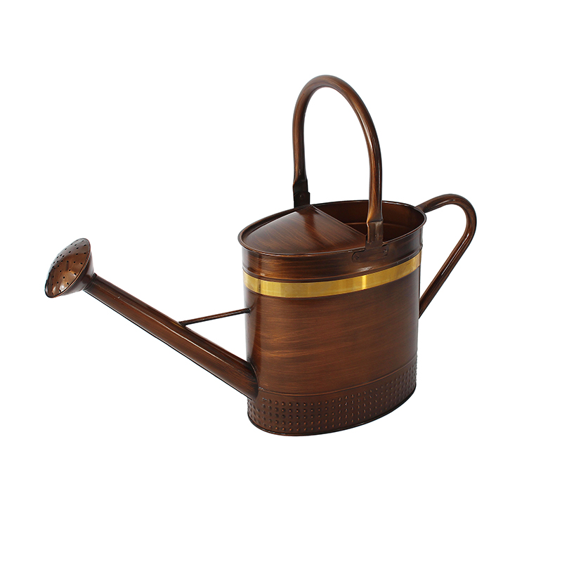 Copper Oval Metal Watering Can