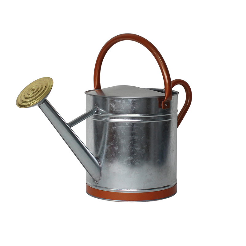 Metal Watering Can With Copper Decor