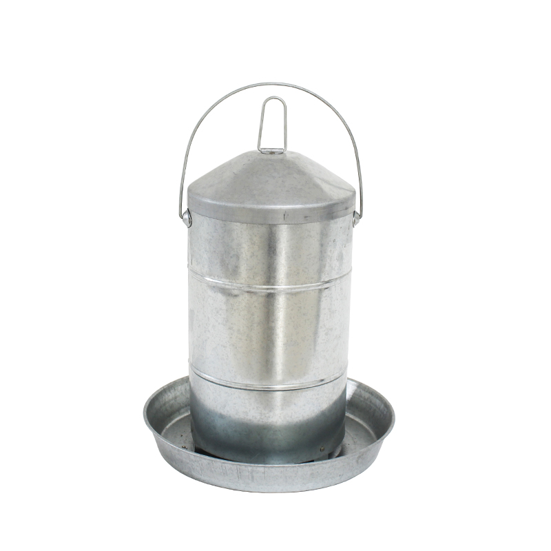 12KGS Double Wall Metal Poultry Drinker Waterer