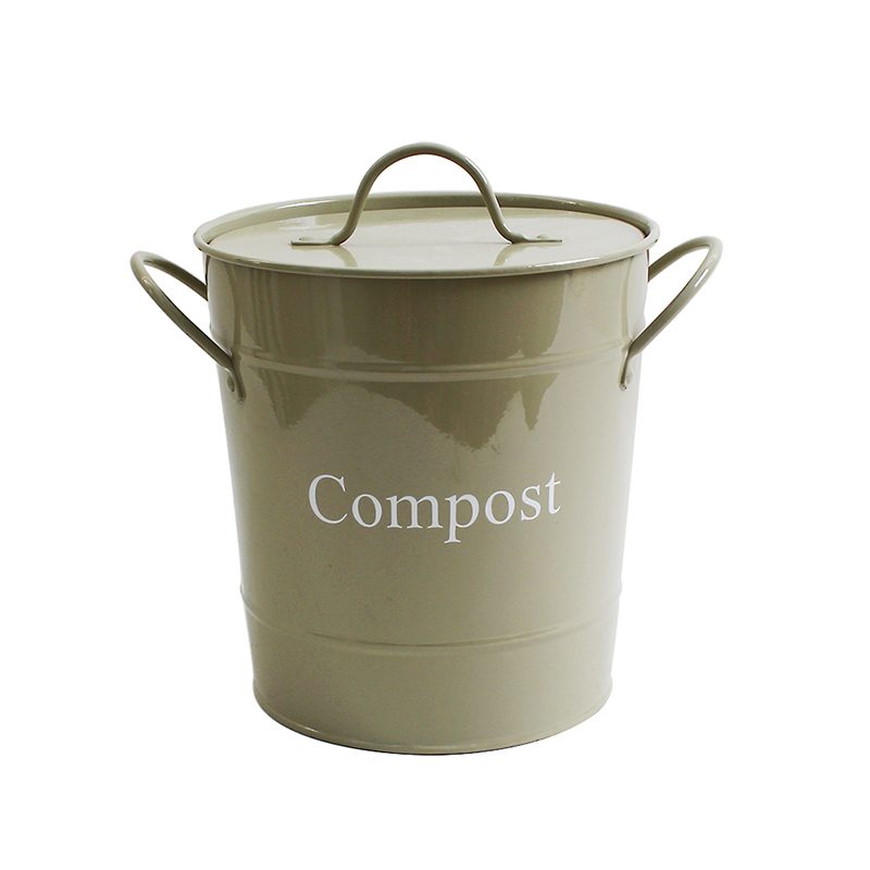 Power Coated Metal kitchen compost bin with filter