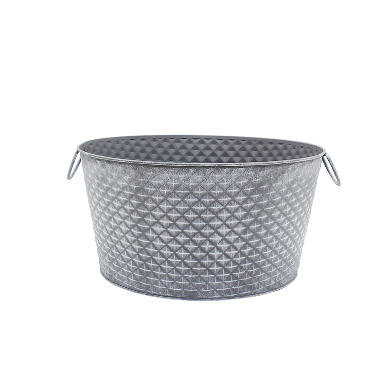 Factory wholesale Oval galvanized beverage tub