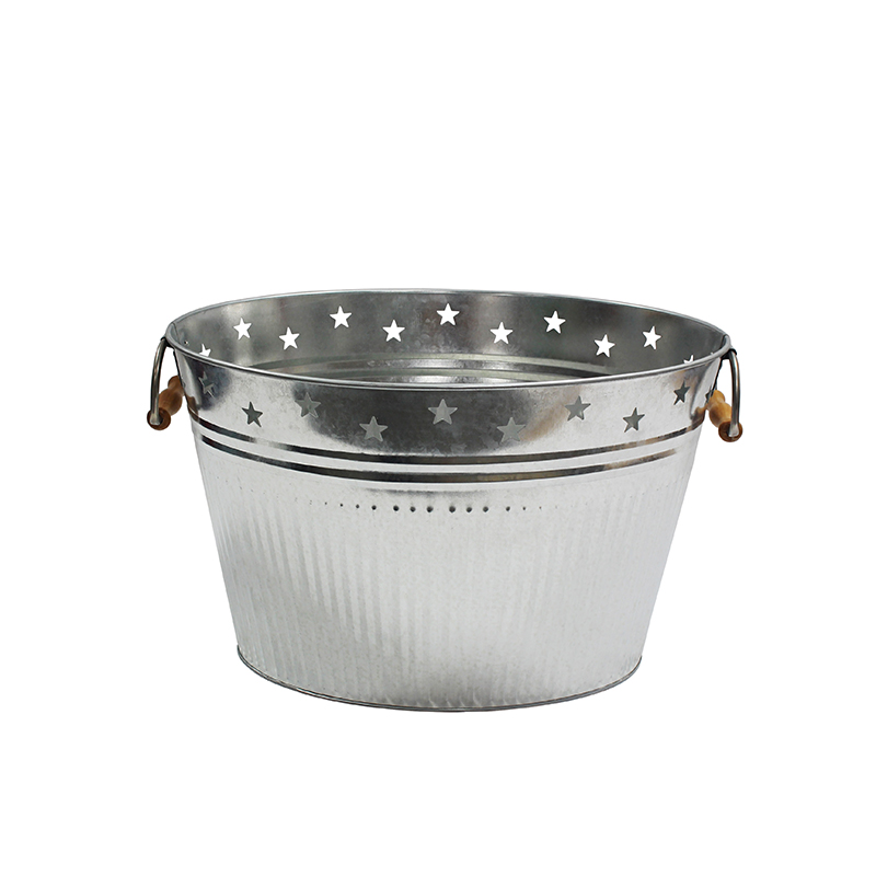 Oval metal party beer galvanized tub