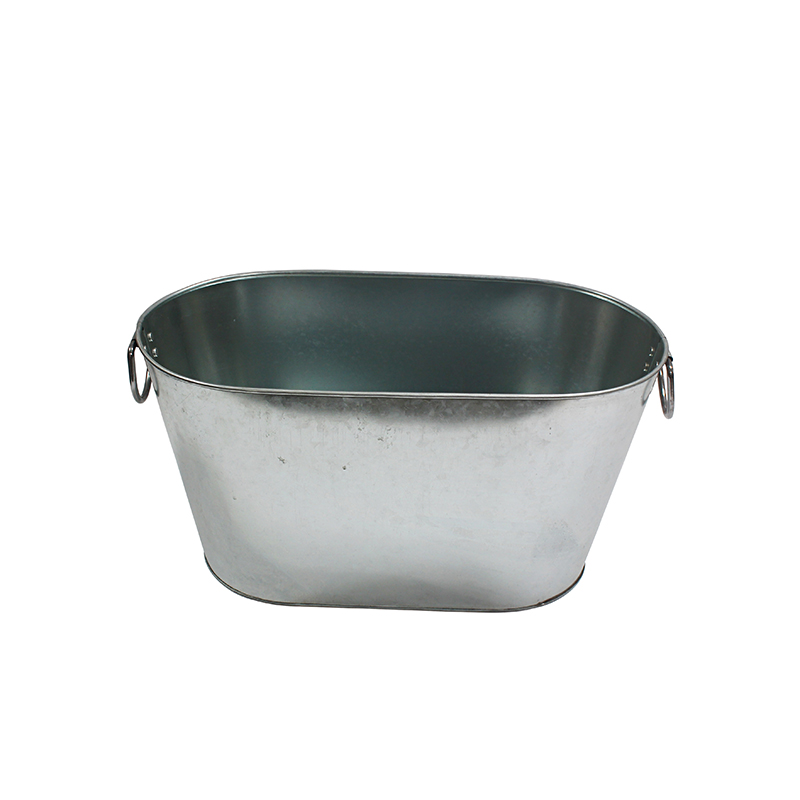 Metal oval large galvanized tub