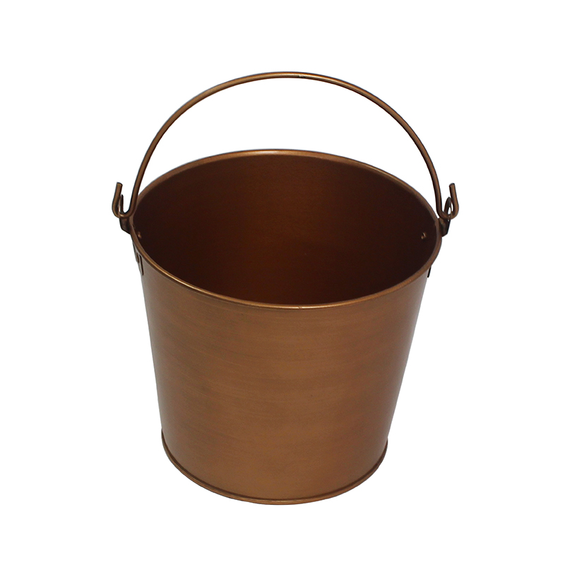 Copper Finish Galvanized metal beer bucket
