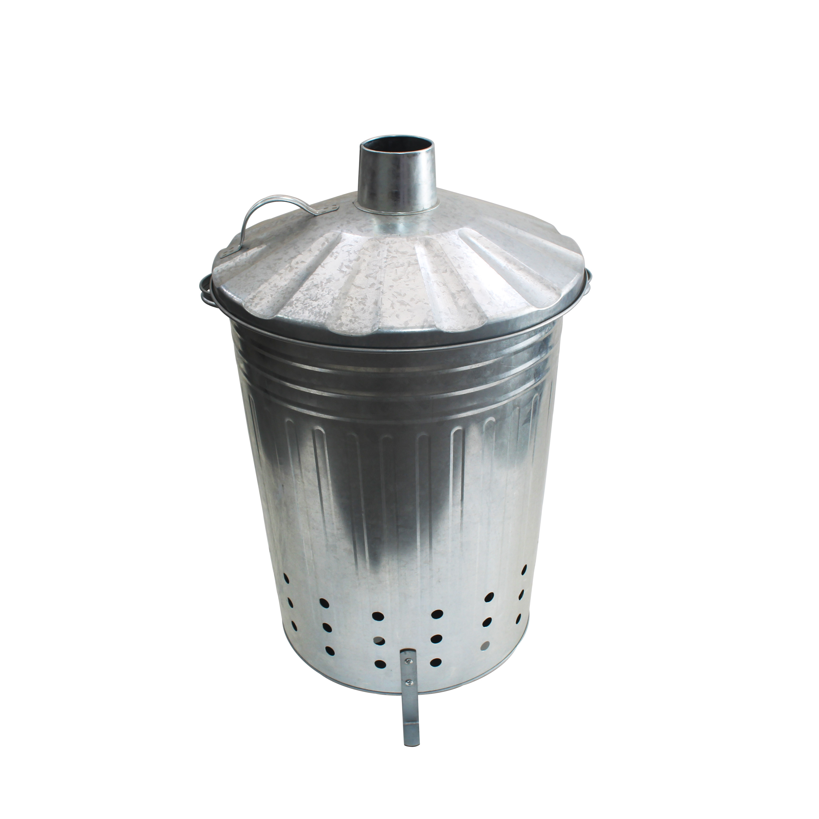 75L Galvanized metal home garden incinerator