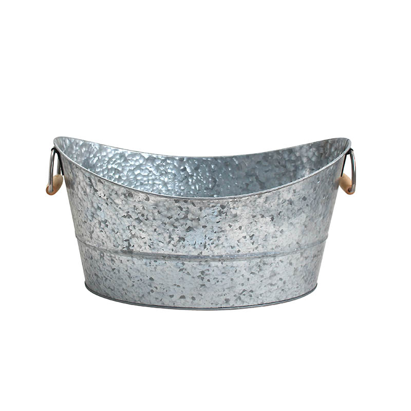 Custom outdoor oval metal galvanized iron beer tub