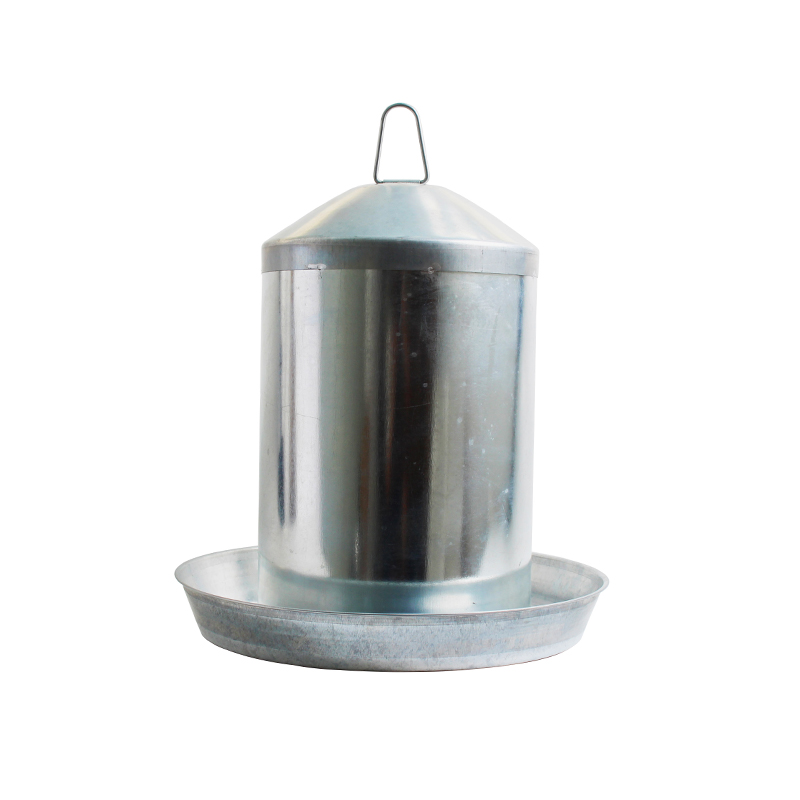 13L galvanized metal chicken water feeder