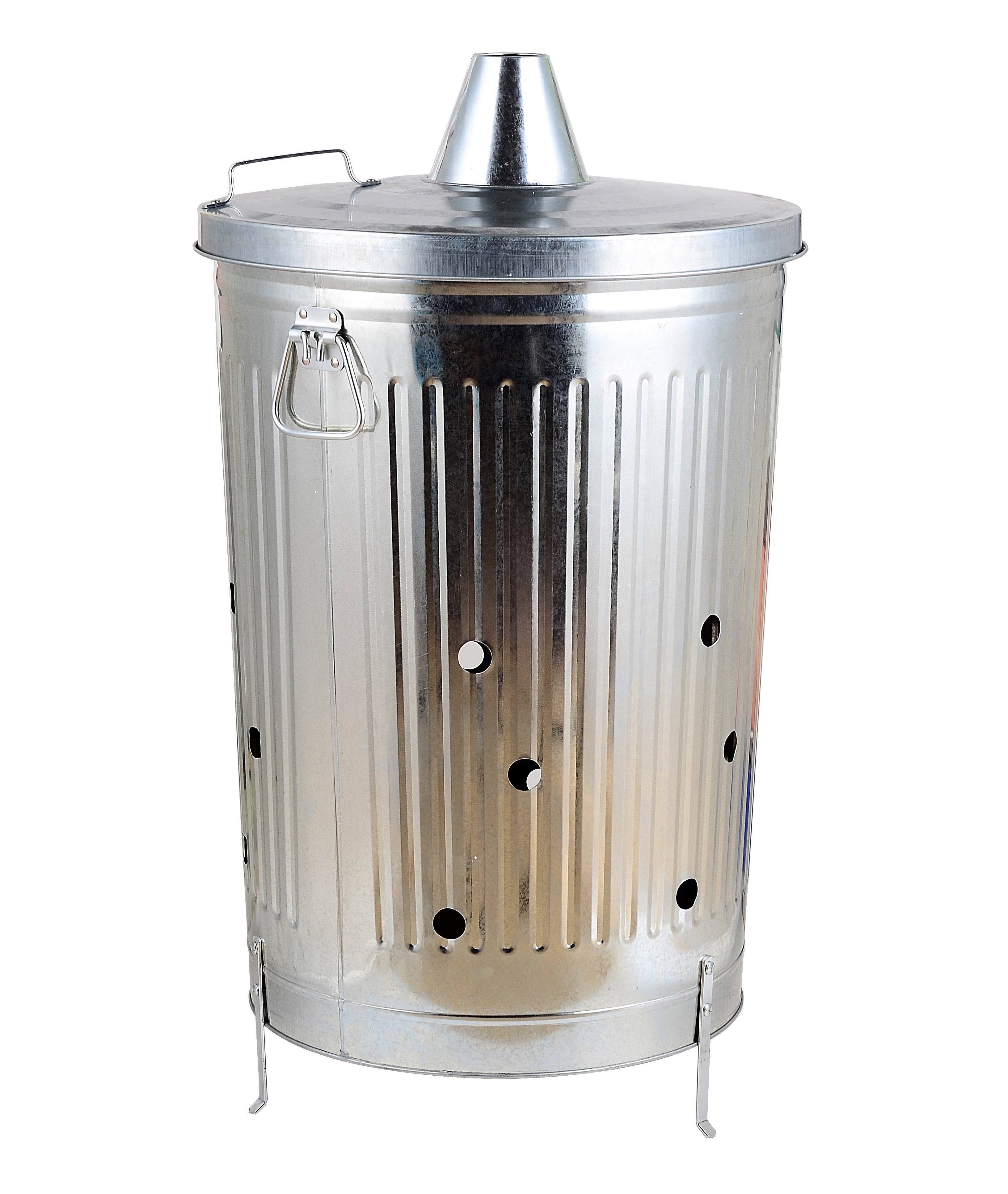 FSC & BSCI approved manufacturer 100L Galvanized garden burning wood rubbish leav