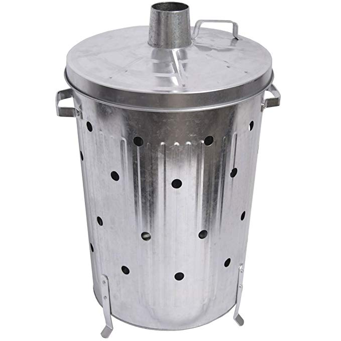 90L Galvanized steel garden rubbish incinerator bin