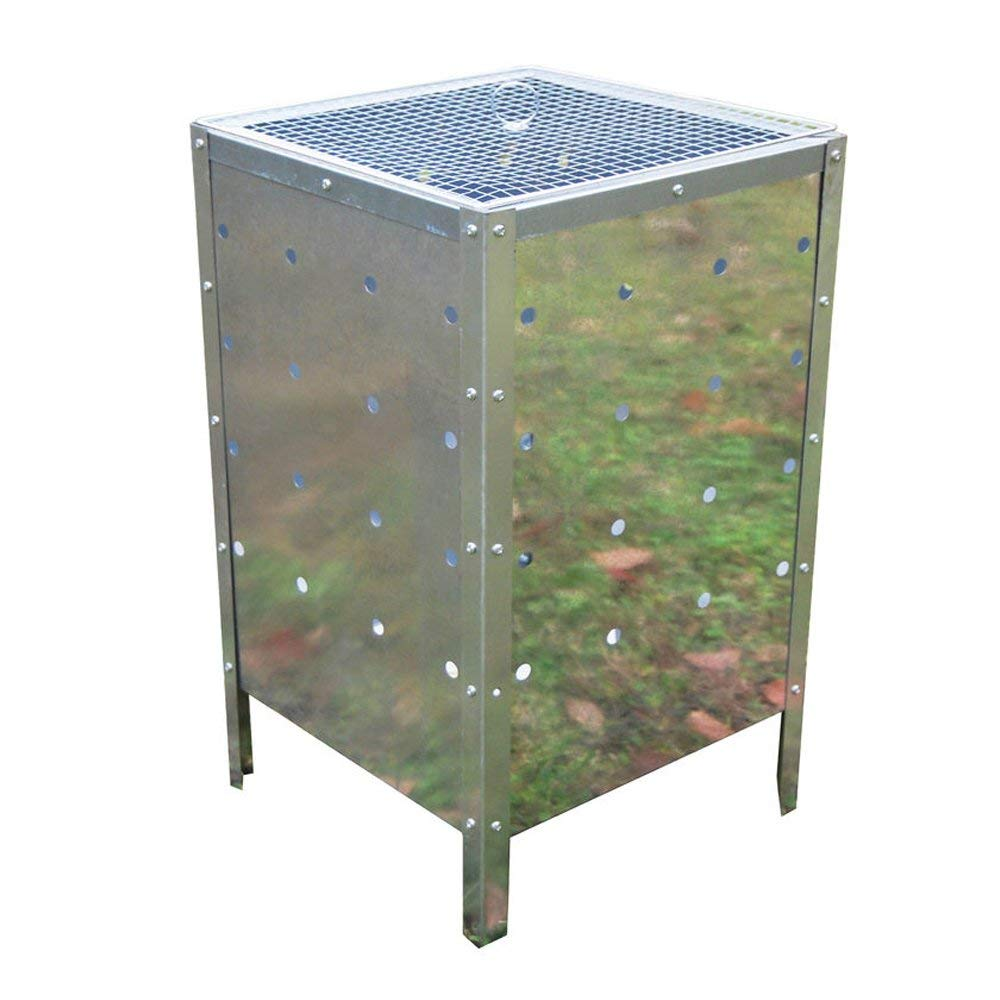 Galvanized metal Large 90 Litre Square Incinerator Fire Bin