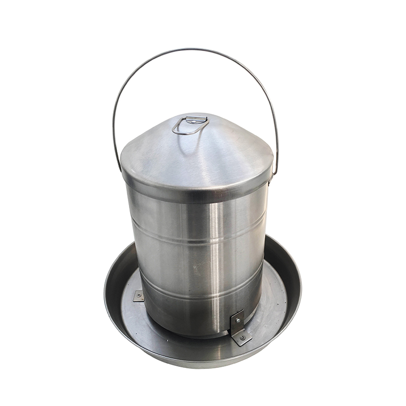 15kg Stainless Steel hanging handle automatic poultry feeder