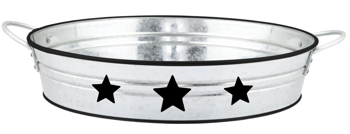 Mif garden brand home party Serving Ware use galvanized tray with star decor