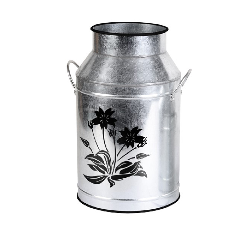 Galvanized Milk Can for Home Office Decor