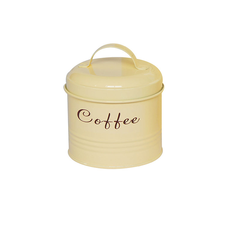 Factory wholesale high quality food storage metal coffee jar