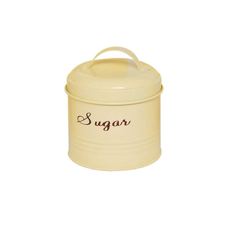 Vintage food safe metal kitchen sugar canister