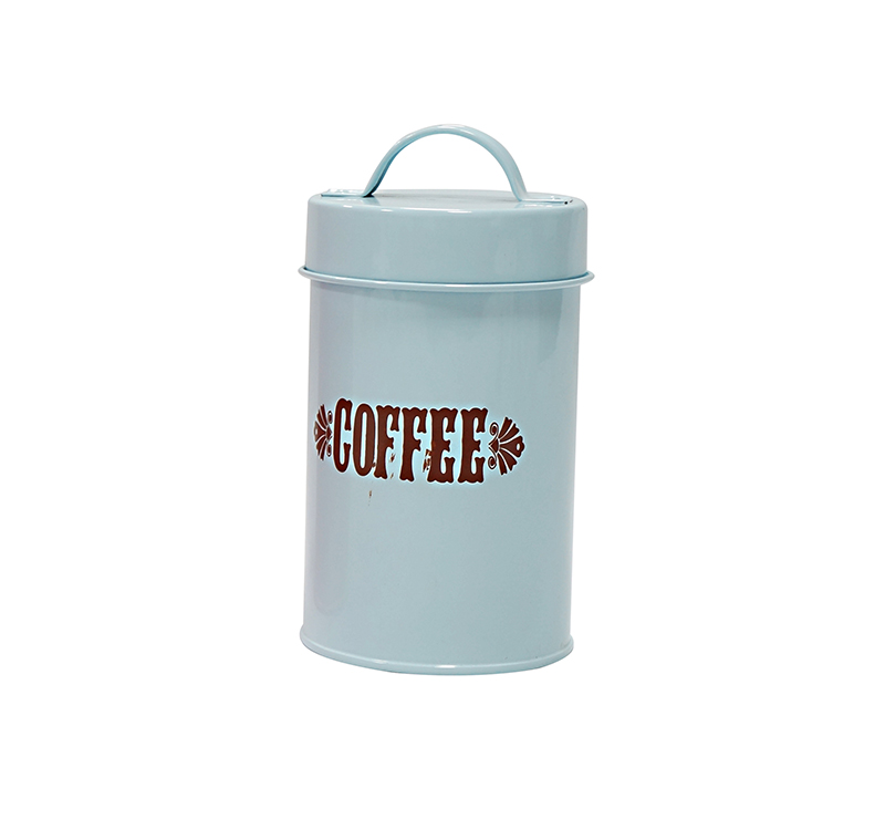 Galvanize steel kitchen storage canisters for coffee