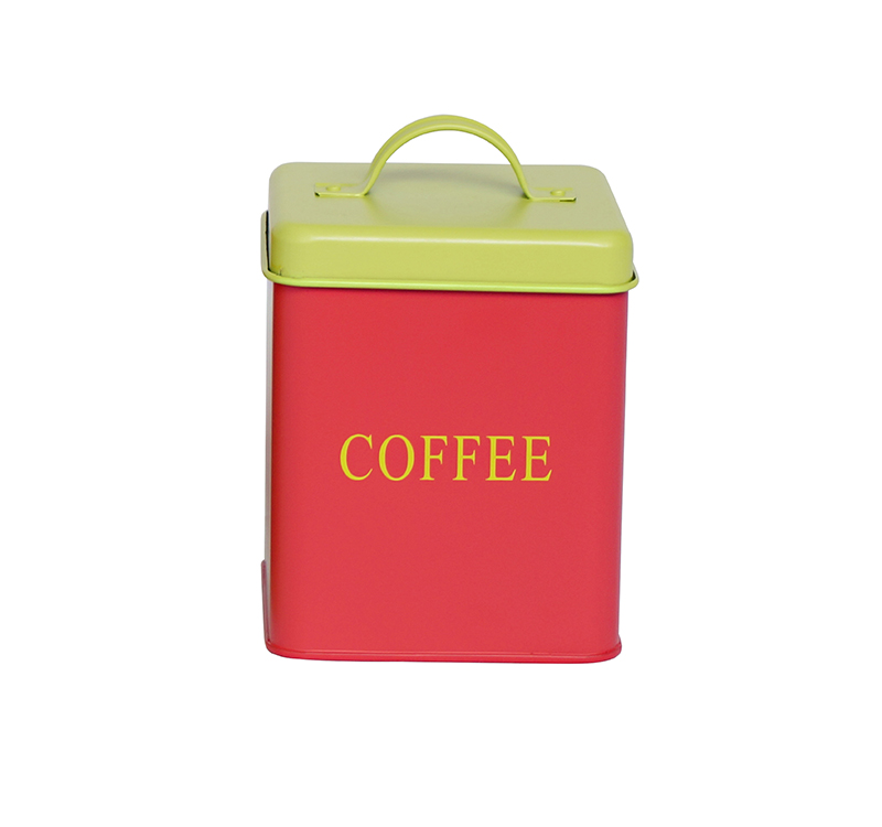 Metal square coffee caniser kitchen storage containers