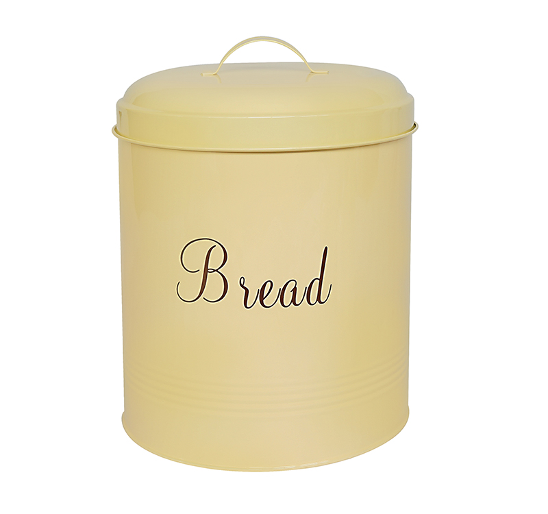 High quality galvanized meteal vintage cream bread bin
