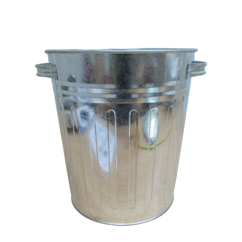 Indoor or outdoor use 20 gallon steel galvanized rubbish bin