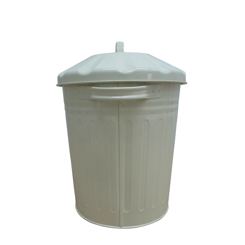 Home cream 3 Gallon metal waste bin