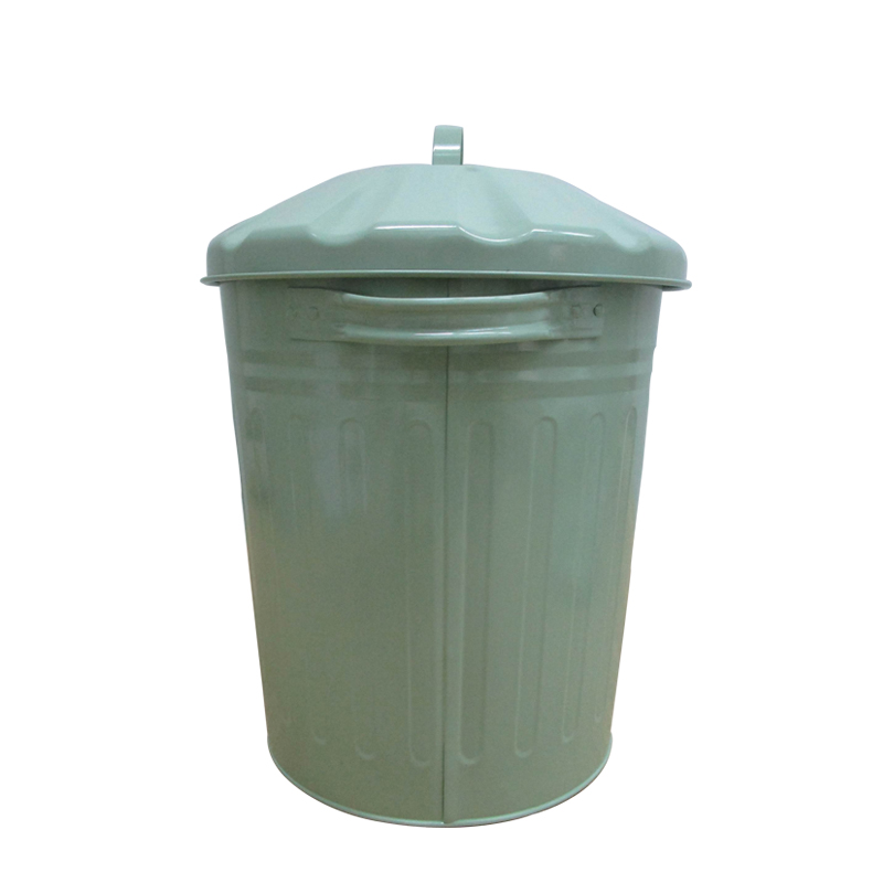 Galvanized Steel Home garden 3 Gallon / 12 Liter outdoor trash can
