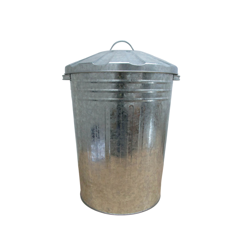 Galvanized 20 Gallon large metal trash can