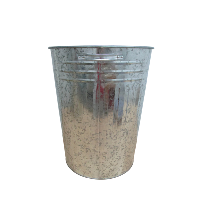 Large galvanized steel 20 Gallon kitchen recycling bins