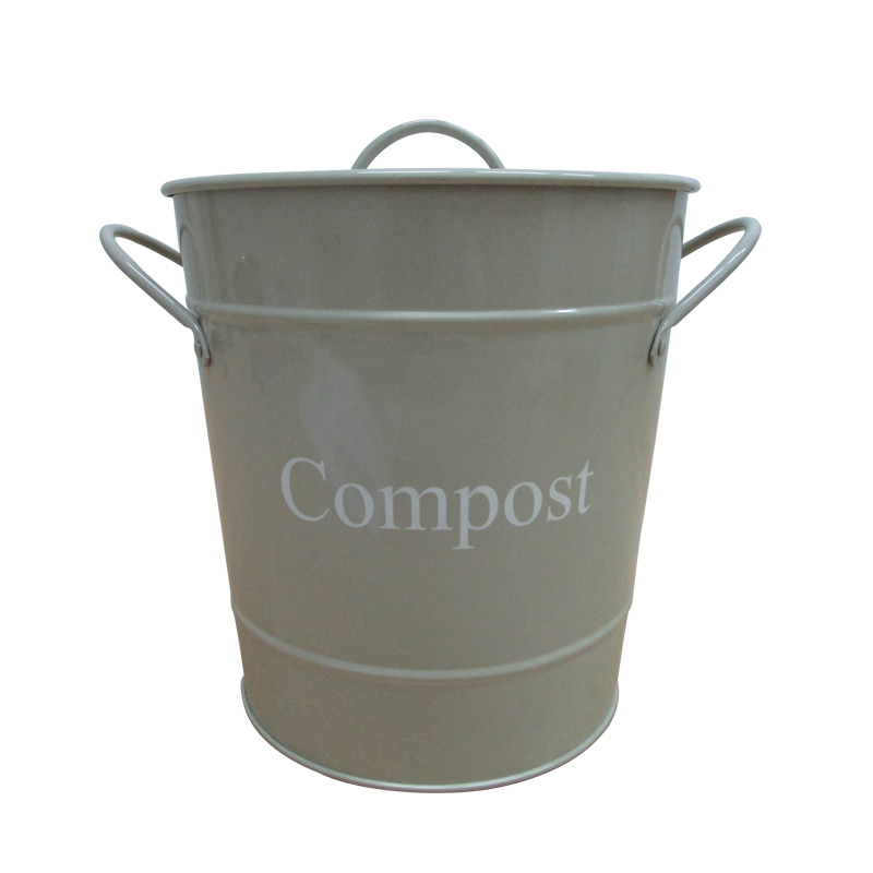 Kitchen galvanized Steel Compost Bin for Kitchen Countertop