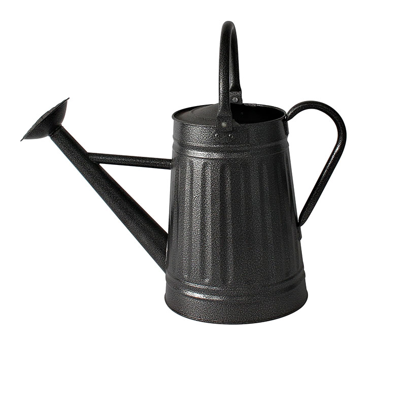 Galvanized Finish Country Rustic Antique Gray Metal Watering Can