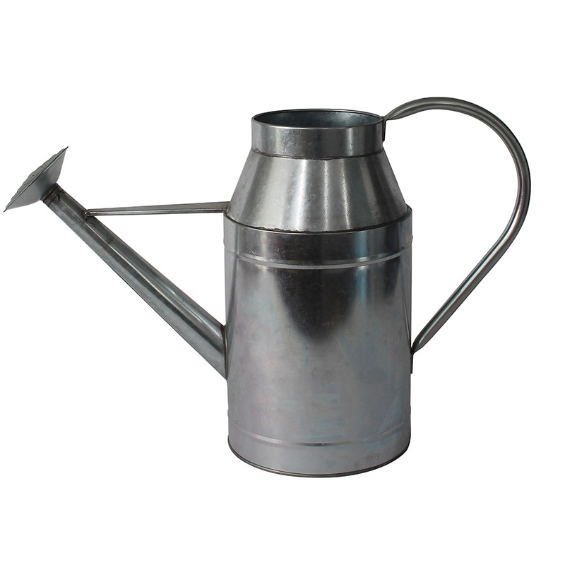 Metal Watering Can Silver Vintage Galvanized Modern Style Watering Pot