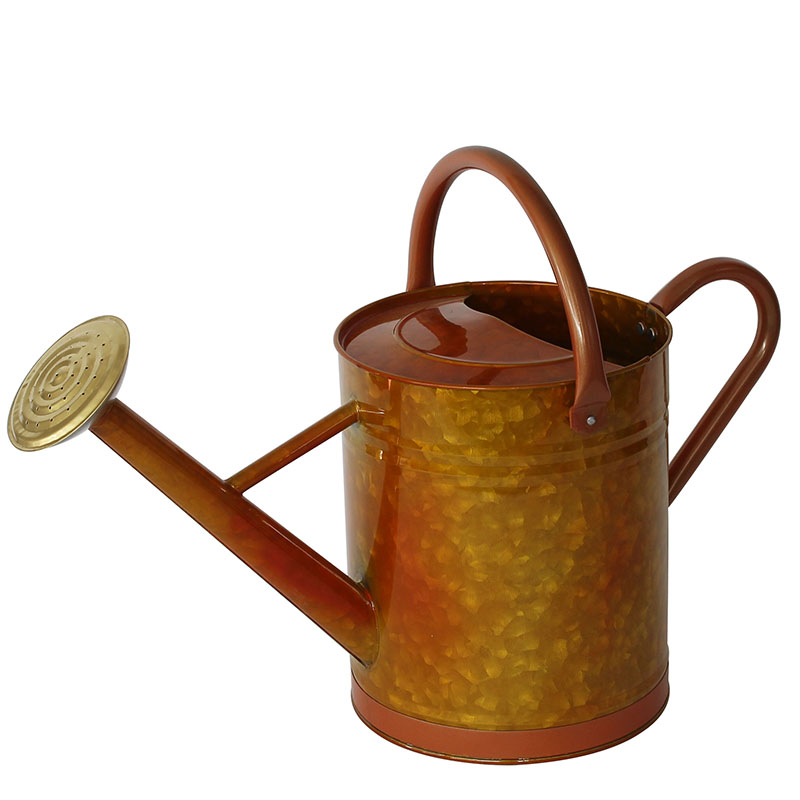 Antique Finish Galvanized Steel Copper Watering Can
