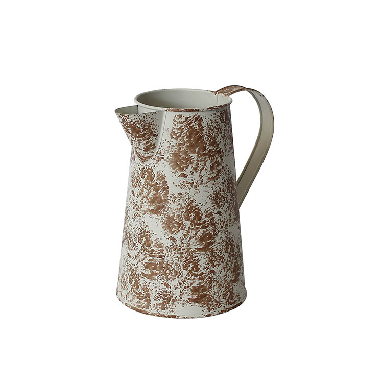 Home Garden Decoration Shabby Chic Rustic Style Metal flower Jug