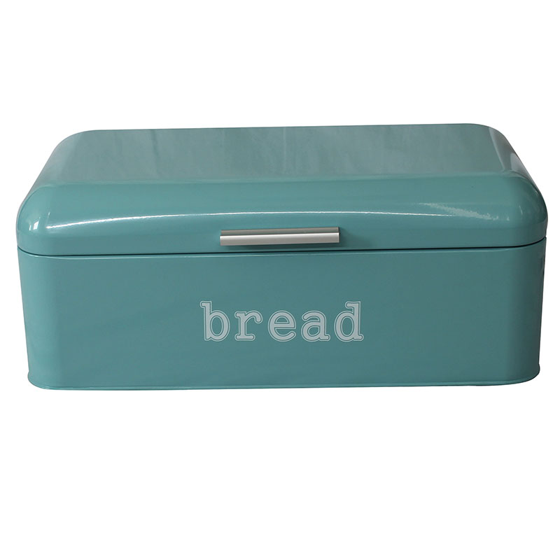 Bread Box for Kitchen Retro Design Galvanized Steel Bread Bin with Powder Coating