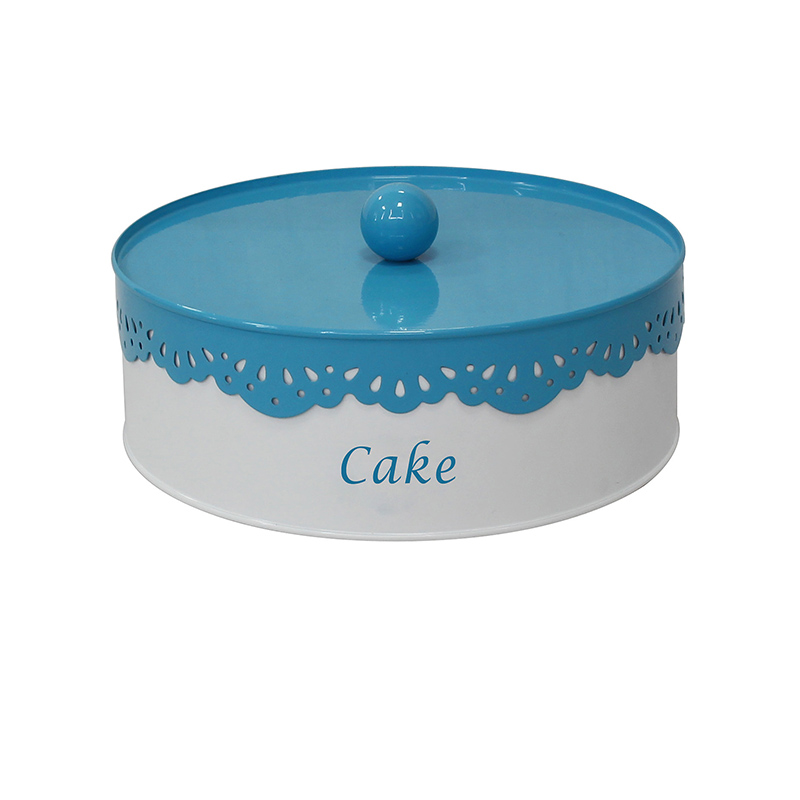 Metal white cake containers