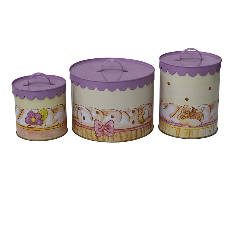 Hot sale high quality cheap price steel food canisters with food grade power coat