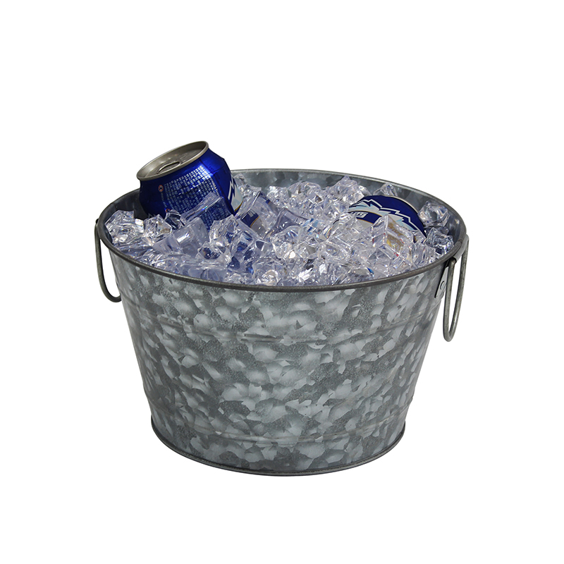Custom personalized metal oval galvanized tub with metal handle