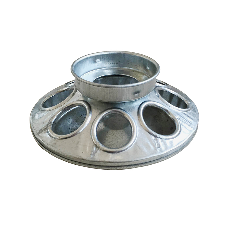 Hole Galvanized Base Jar Feeder for Chicks and Small Birds