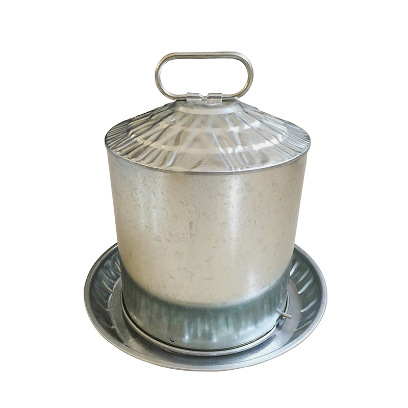 2 gallon Metal Poultry Chicken Drinker
