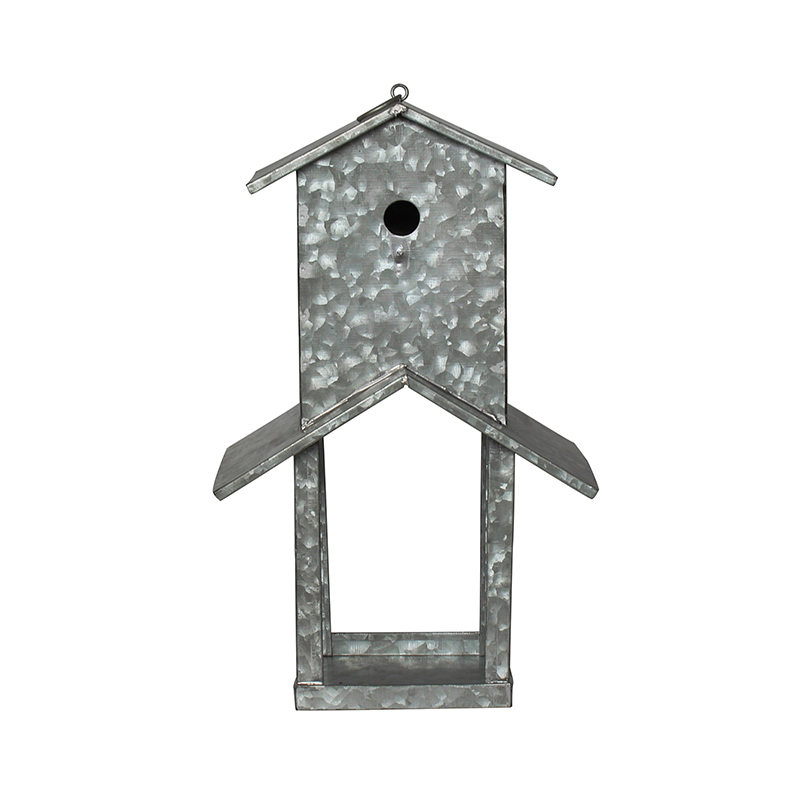 Galvanized Metal Double-layer Bird Feeder