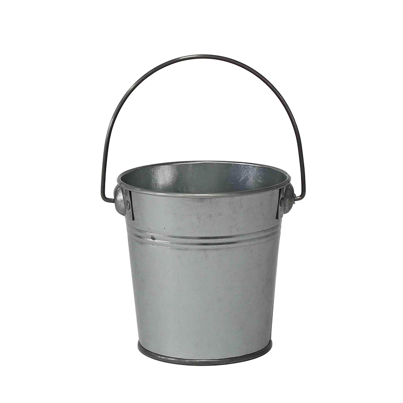Custom logo galvanized metal printed small bucket